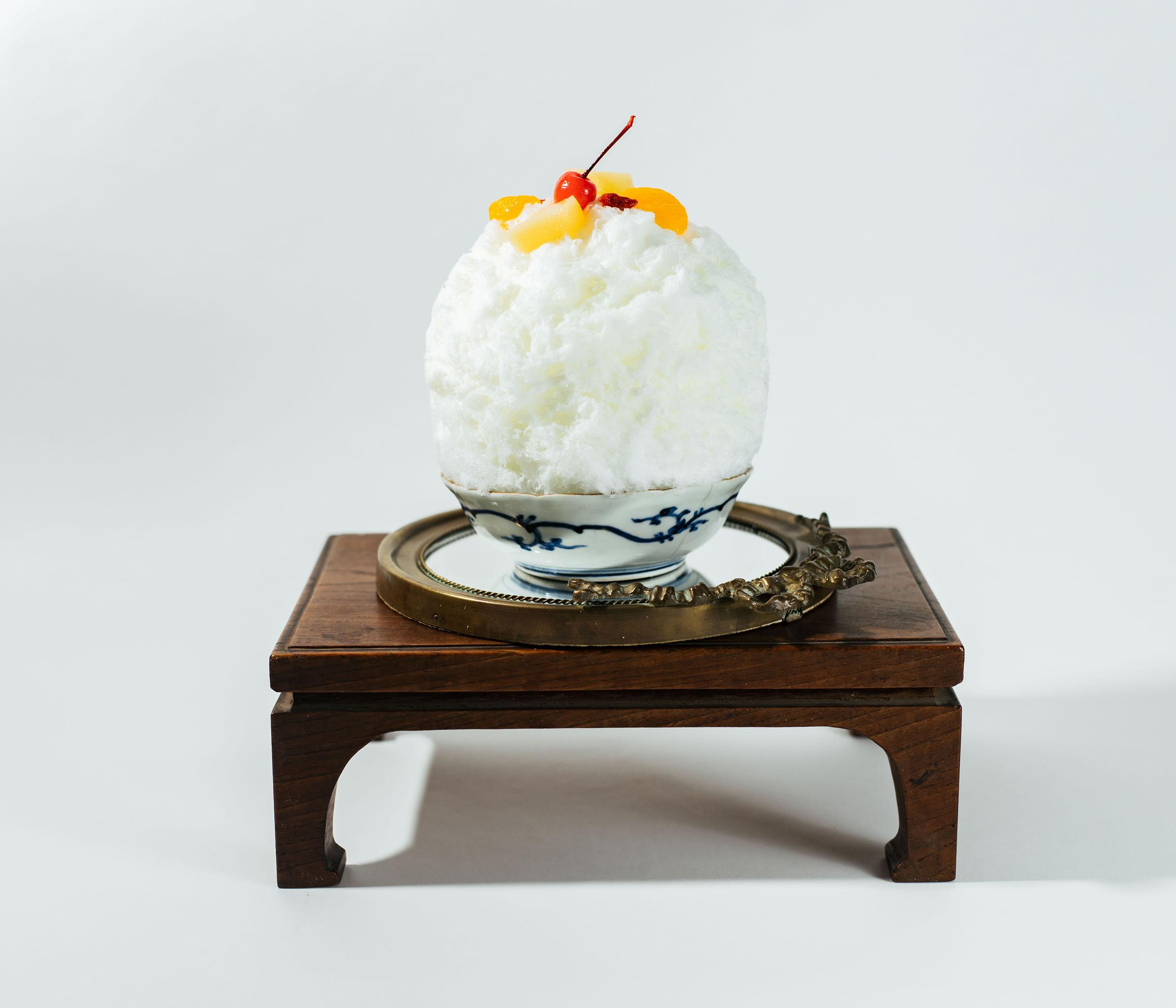 杏仁豆腐の白くま